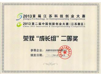 江苏科技创业大赛证书