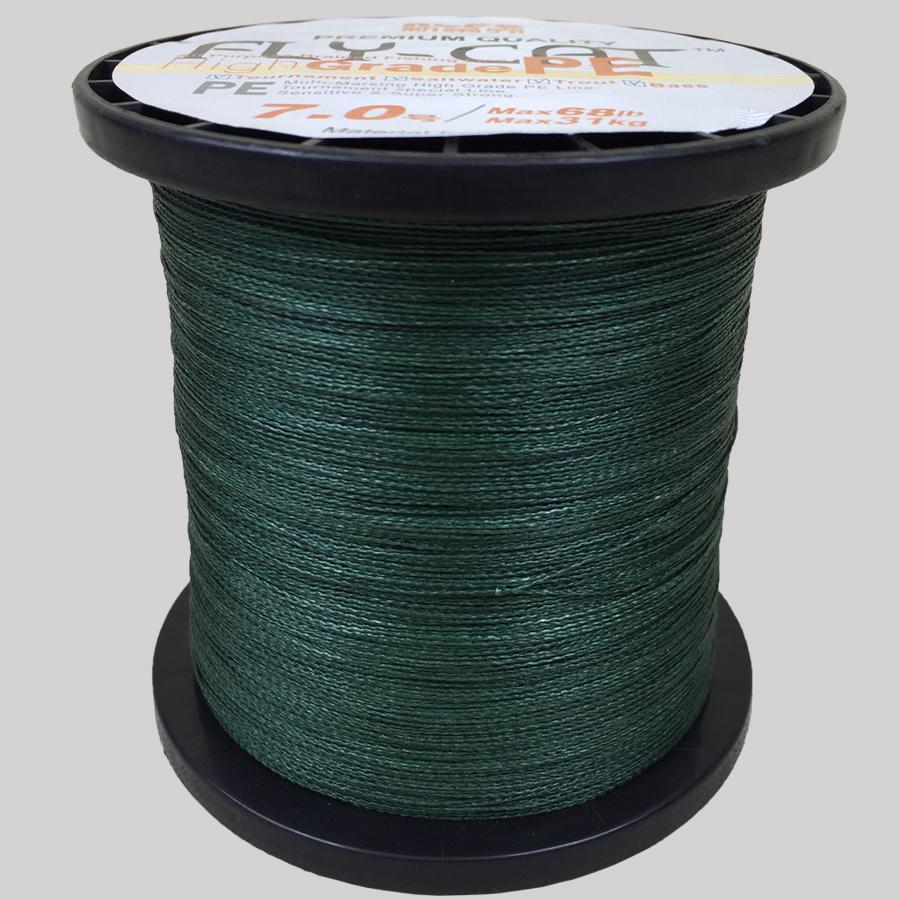 飞猫牌PE编织线线轴装墨绿